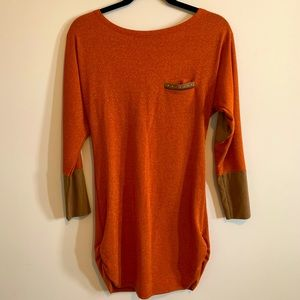 Gold/Orange Top or Dress with brown patches